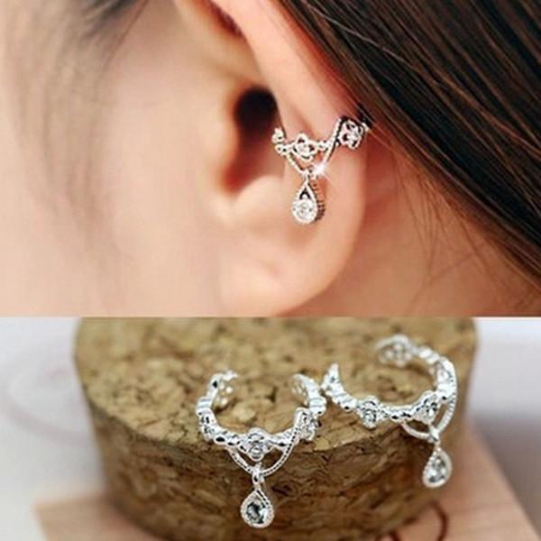 Vintage Fashion No Pierced Ear Cuff Clip For Women Punk Personality Crystal Earrings Wrap Earcuff Brincos