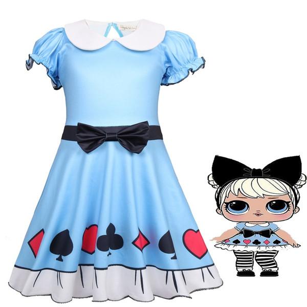 Desenhos animados Europa e América hubble-bolha manga grande cabeça boneca desempenha o papel de crianças roupas 2019 verão novo estilo das crianças saia