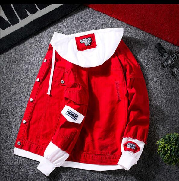 Элемент стиль весна бейсбол униформа мужская корейская версия тонкий модный тренд молодежная джинсовая куртка тренд мужская весна и осень деним