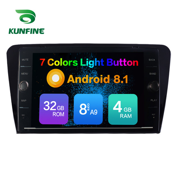 Octa Core 4GB RAM 64GB ROM Android 8.1 Car DVD GPS Player Deckless Car Stereo For Skoda Octavia 2014 Radio Headunit Device