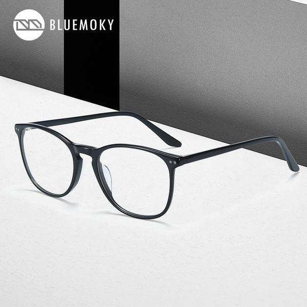 BLUEMOKY очки Мужчины Оптические очки Рамки Оправы Модельер Круглые Eyewear Мужские аксессуары 2019 BT2011