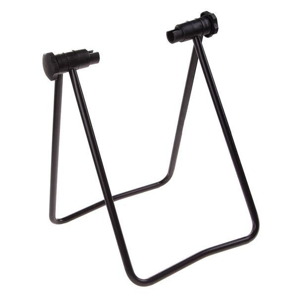 Bike Wheel Hub Folding Repair Stand T Floor Holder Storage Rack Bicycle Portable Repair Tool #510291