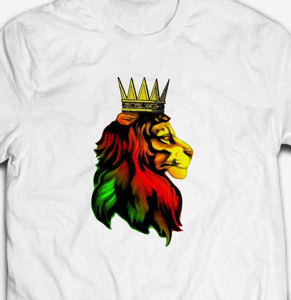 REGGAE DUB MUSIC RASTA ZION LION 100% Cotton Men'S RASTAFARIAN T Shirt  TEEFunny Unisex Casual Top White T Shirts Offensive T Shirts From  Sixpoundtees,