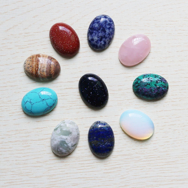 Wholesale 10pcs/lot High Quality Natural stone Oval CAB CABOCHON Teardrop Color mixing Beads DIY Jewelry making earring Free shipping 18*25