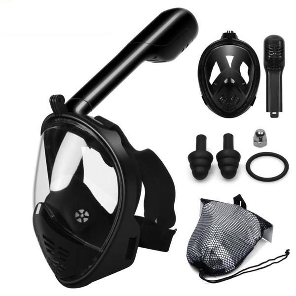Máscara de buceo Máscara de buceo Submarino Anti-Niebla Mascarilla de esnórquel de cara completa Mujeres Hombres Niños Natación Buceo Equipo de buceo Gafas para motocicletas
