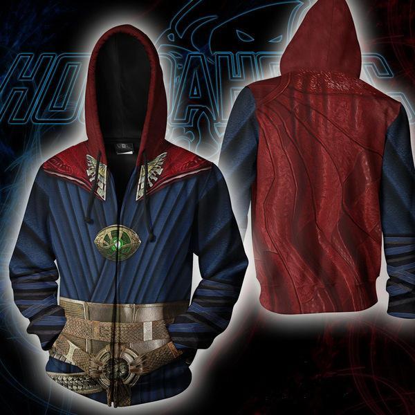 Movie Doctor Strange Cosplay Hoodie New 3D Digital Printing Sweatshirt Coat Jacket Costume Hooded Men Fashion Tops