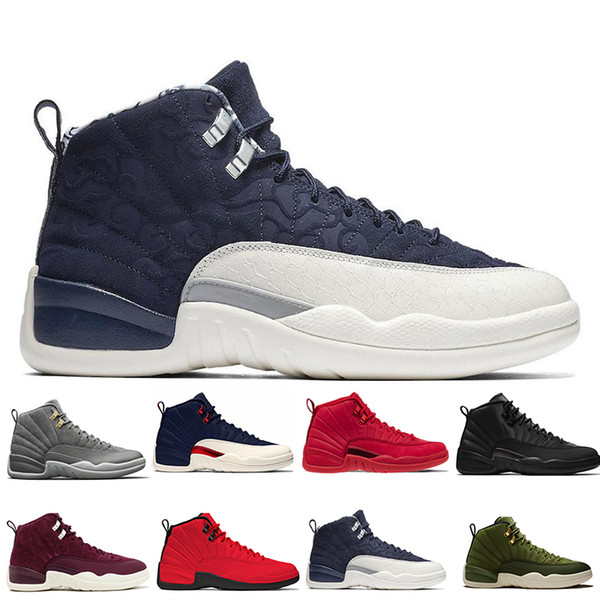12 12s Gym red WNTR mens Basketball shoes Michigan International Flight College Navy Flu Game Taxi Gamma Blue men sports sneakers designer