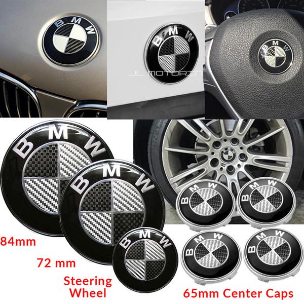 7pcs set 82 + 74mm, 4x68mm, 45mm Para Alpina Emblems Hub Wheel Cap Carbon Fiber