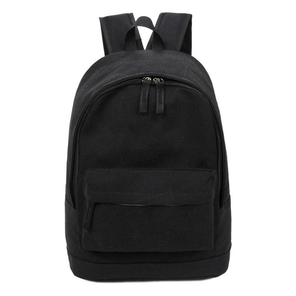 Wholetide- Korea Style Fashion Backpack For Men And Women Preppy Style Soft Back Pack Unisex School Bags Big Capacity Canvas Bag
