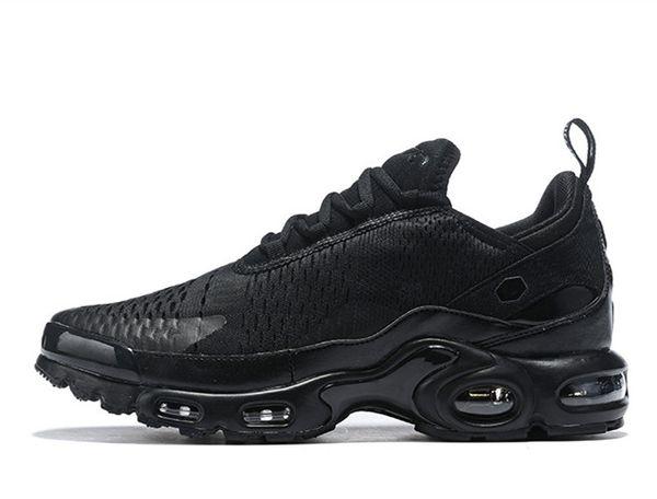 2019 zapatos corrientes de la Nueva Plus Tn para todos los hombres Negro Blanco Azul zapatillas de deporte masculinas de tejer malla para deportes tamaño de los zapatos 7-12