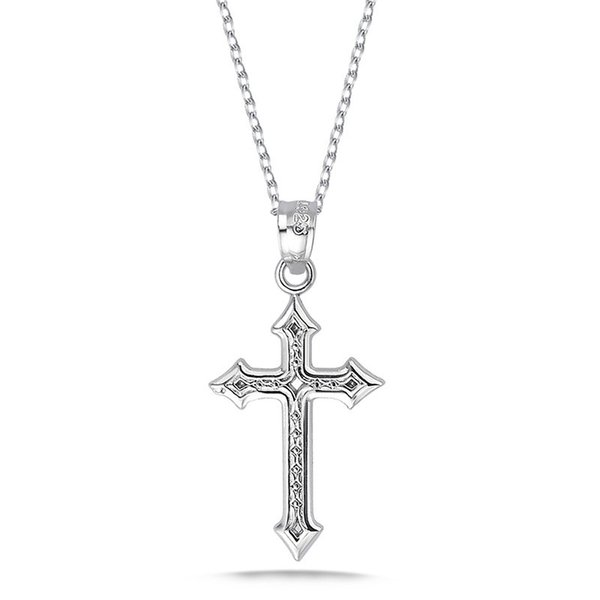 925 Sterling Silver Jesus Cross Pendant Necklace for Women 2019 Vintage Fashion Religious Classic Fine Jewelry European Style