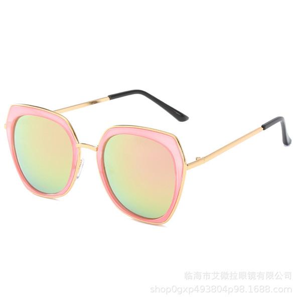 2009 new Korean version of sunglasses Fashion Ring metal sunglasses tide brand for men and women universal driving glasses