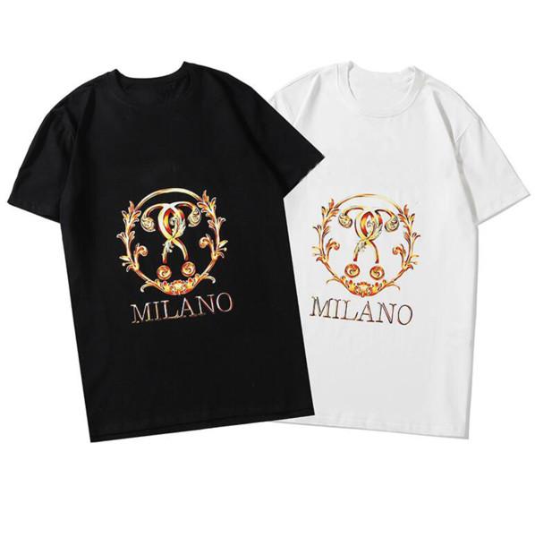 Harfler Kadınlara Paris Sıcak Marka Erkek tişörtleri Yaz Kısa Kollu Erkek tişörtleri Giyim S-2XL Opsiyonel ZWN20123 Tops
