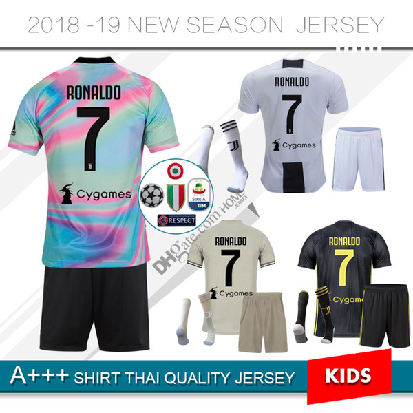 new style 15f21 66685 2019 2019 JUVENTUS Limited Edition RONALDO Home Kids Kit Soccer Jersey 18  19 Juve 2020 Away #10 DYBALA MANDZUKIC Special Version Football Shirts From  ...