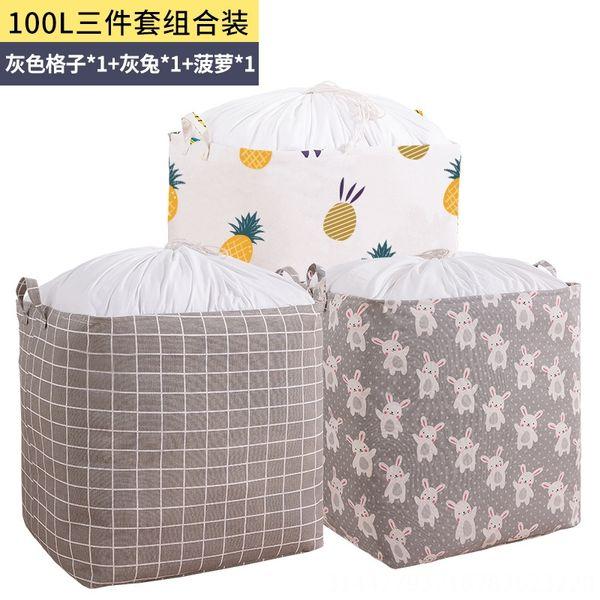 100L große Kapazität Lagerkorb (grau