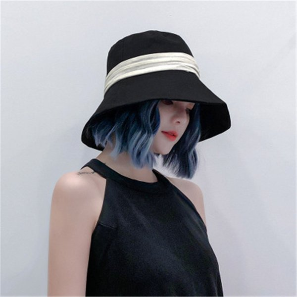Ins Fashion Design Fisherman Caps Women Summer Cotton Sun Hat Lady Fashion Design Japanese Basin Caps