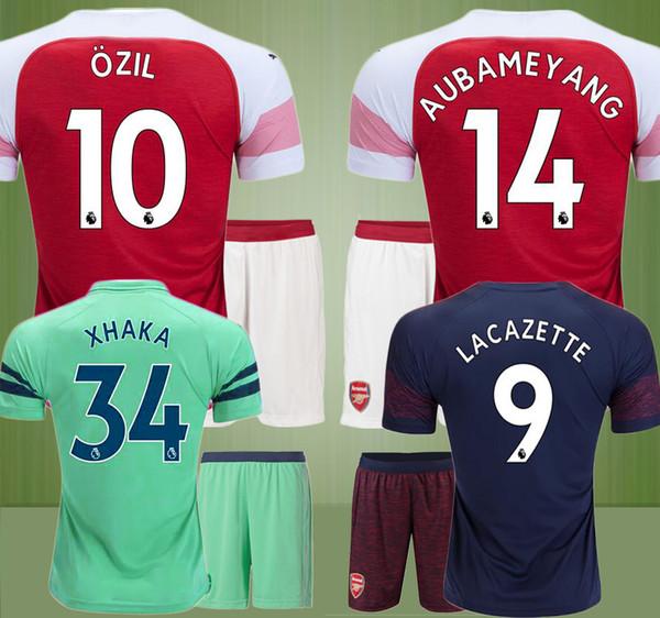 more photos 57a22 b9d97 2019 2018 2019 AUBAMEYANG OZIL Arsenal Soccer Jersey 18 19 LACAZETTE  TORREIRA RAMSEY XHAKA WELBECK Football Kit Top MEN SET Soccer Shirt  Uniforms From ...