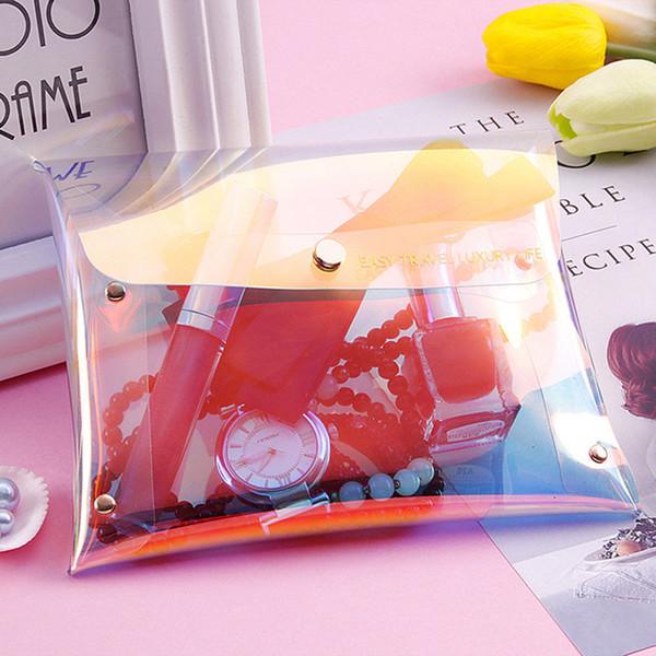 Saco de maquiagem designer Saco de Maquiagem das Mulheres Flash Laser Bolsa Holográfica Lápis Casos de Papelaria Carteira Prespect Saco