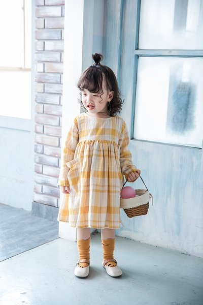 Spring Fall girls Clothes dress Long Sleeve Lolita girl Clothing Dress size 80-130cm