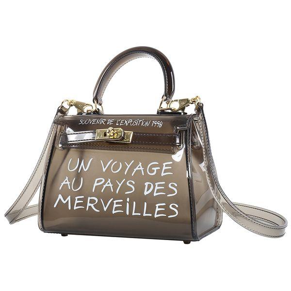 Klar Transparent PVC Umhängetaschen Frauen Candy Farbe Frauen Gelee Taschen Geldbörse Einfarbig Handtaschen Große Kapazität Crossbody Tasche