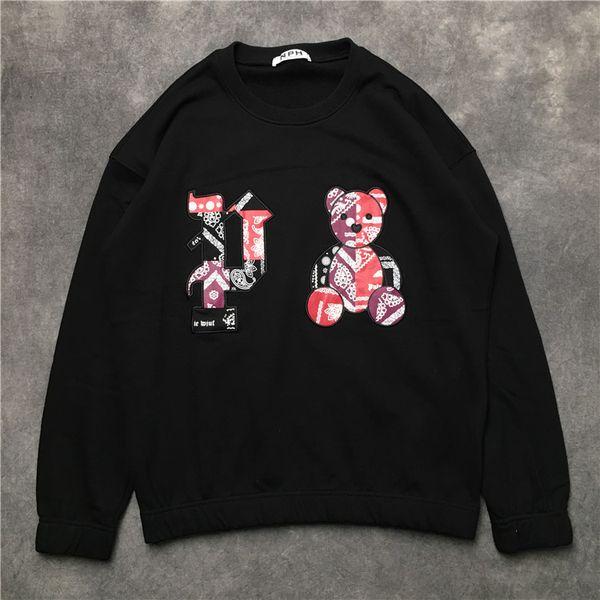 2019 Fashion men women long sleeve shirt embroidery letter Little Bear cotton Hoodies Man sweatshirt male pullover