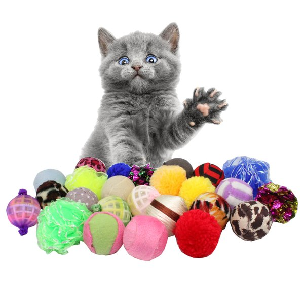 4pcs/lot Interesting Cat Toy Ball Pet Toy Set Ring Paper Plastic Ball For Kitten Puppy Playing Interactive Pet Cat Dog Products