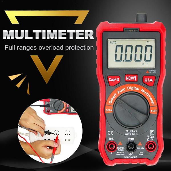 Capacitance Inductance Resistance Tester Multimeter LCD Measuring Meter Self-discharge with Overrange Display