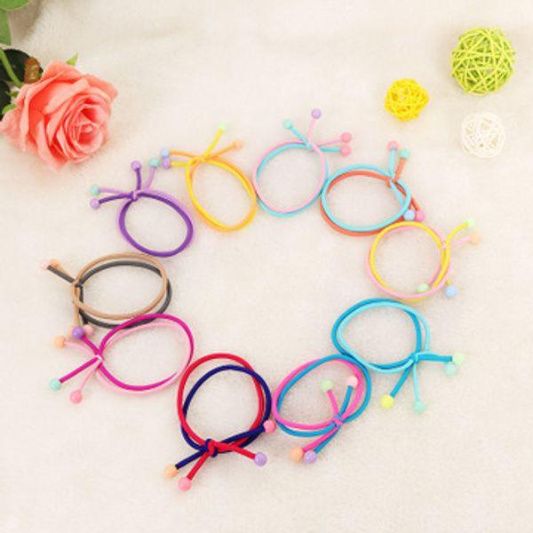 Korean Candy Multi Layer Gummibänder Ring Mädchen Frauen Elastische Haarbänder Pferdeschwanz Halter Haargummis Haarschmuck