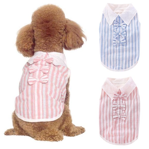 Medium Dog Shirt Small Dog Clothes Multi Color Pink Stripe Shirt Size Small