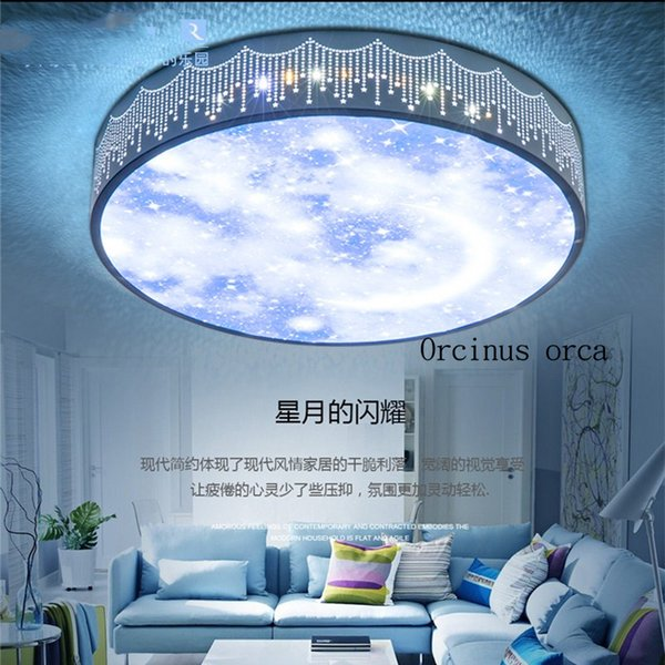 Großhandel Cartoon Kreative Led Ferngesteuerte Deckenleuchte Junge Mädchen Schlafzimmer Kinderzimmer Lampe Moderne Einfache Sterne Mond Decke Von