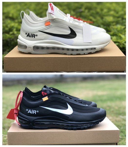 pretty nice 0f3ab de5ae 2019 2019 New 97 OG Bullet Mens Running Shoes For Men White Black Metallic  Sports Athletic Trainers 97s Womens Sneakers Size 5 12 From Goesyes, ...