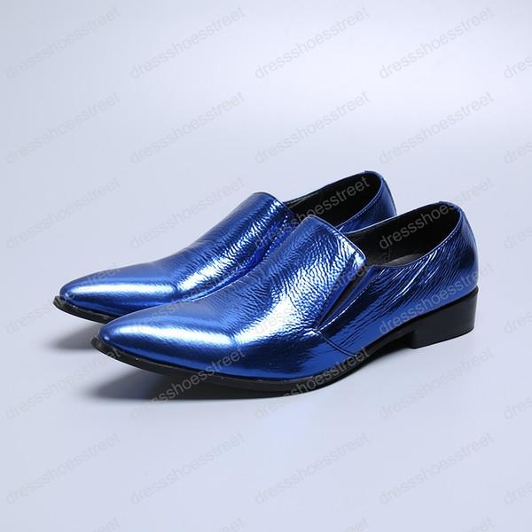 New Men Dress Shoes Shadow Genuine leather Luxury Fashion Groom Wedding Shoes Men Oxford shoes Party Wedding Men Flat