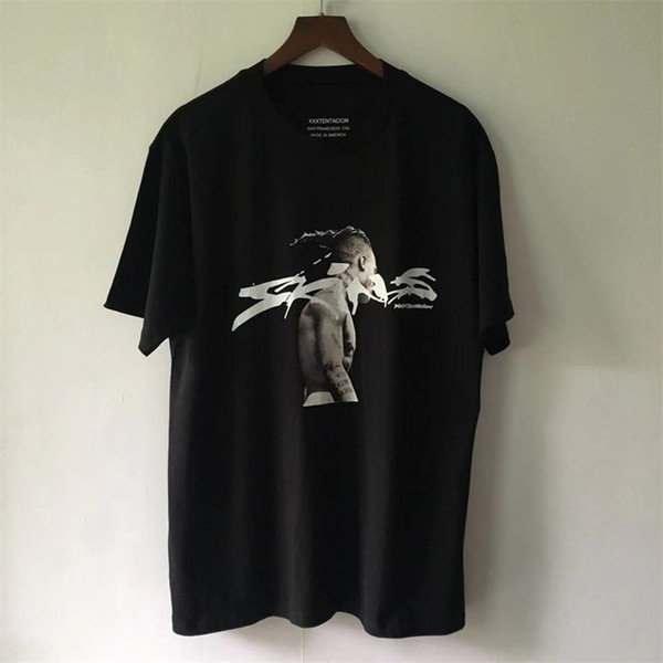 2019SS NEW KANYE WEST OVERSIZE XXXTentacion Hommes Sweat À Manches Courtes T-shirts Hip Hop Japon Mode Casual Coton Tee TOP S-XXL