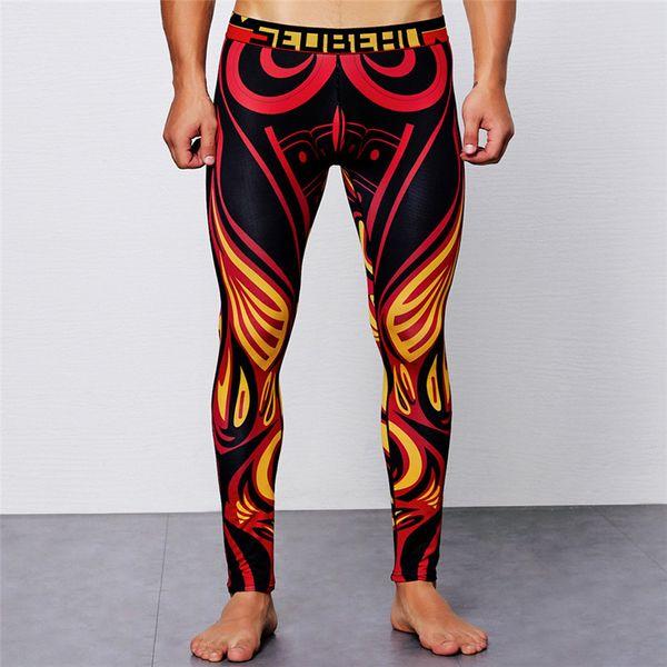 2019 men pants casual men's print cotton breathable sports leggings thermal long johns underwear pants thumbnail