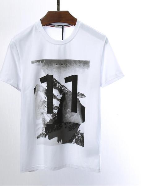 Marke Herren Monclers T-Shirt Mode Luxus T-Shirts neue meistverkaufte Baumwolle Männer Sport T-Shirt klassische Modelle hochwertige Freizeit T-Shirts