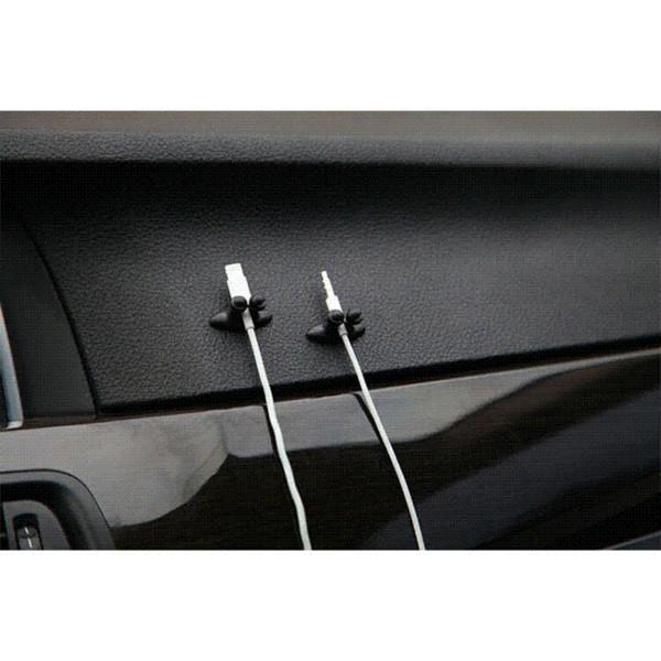8 Stücke Auto Drahtseil Clip Drop Kabel Halter Ordentlich Organizer Klebstoff Clamp Line Fixer großhandel