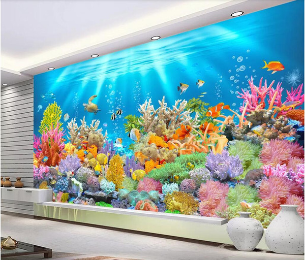 3d Room Wallpaper Custom Photo Non Woven Mural The Best Hd Fantasy Underwater World Wallpaper For Walls 3 D Amazing Wallpapers Hd For Desktop Angelina