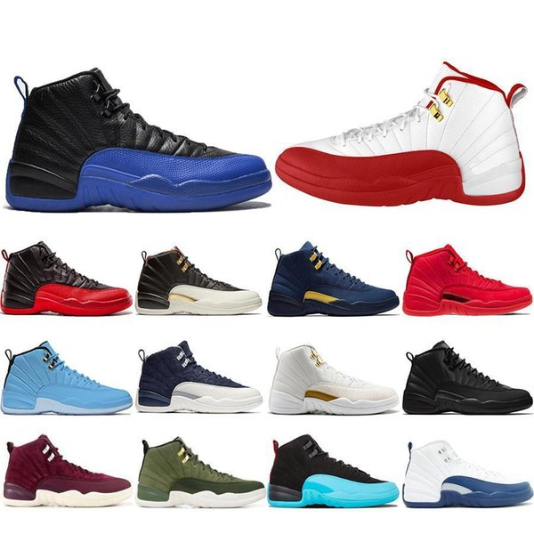 Free Shipping 12 12s Game Royal FIBA Men Basketball Shoes CNY Michigan Gym Red NYC Bulls XII Mens Trainers Designer Sports Sneakers 7-13