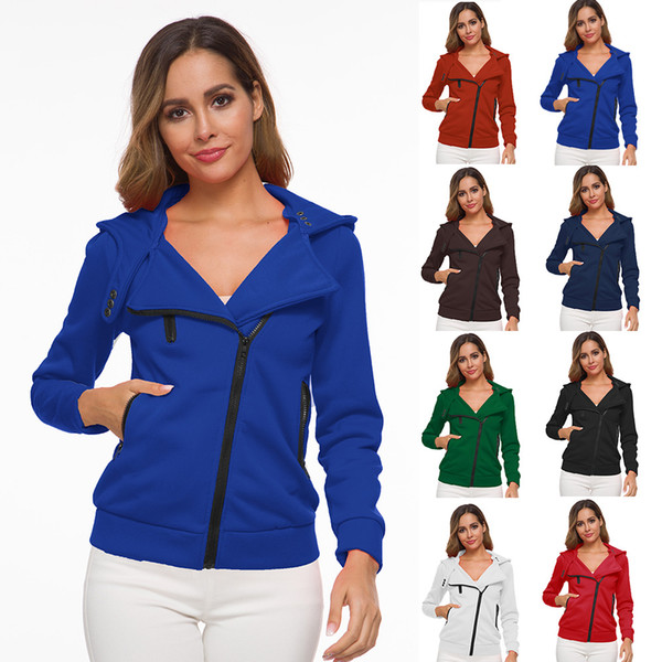Sudaderas con capucha de diseño para mujer Sudaderas con capucha Otoño Sudaderas de manga larga Ropa de mujer Camiseta de moda Top Casual Cremallera Suéter