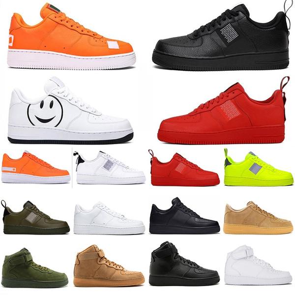 2020 classique dunk 1 Une plate-forme baskets Blanc Vintage Noir Bas Chaussures Casual Ayez un jour de lin Volt High Top Brown Bottes planche à roulettes chaussures