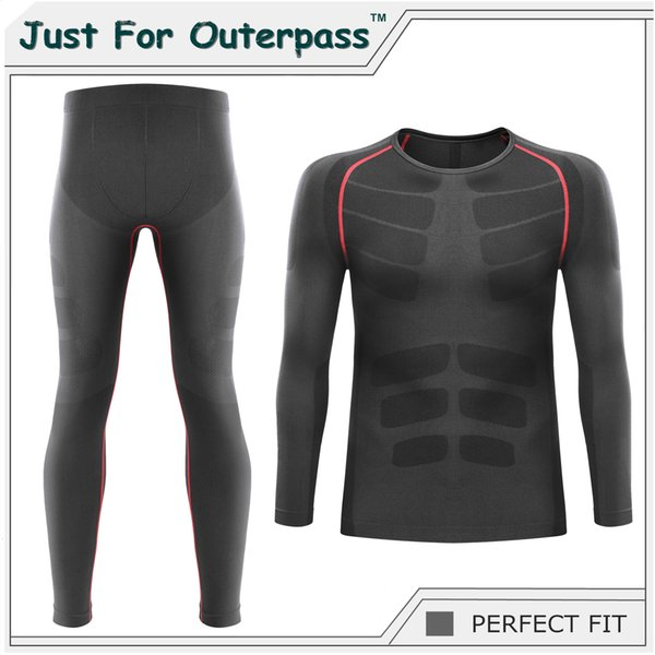 2019 Winter Thermal Underwear Sets Men Brand Quick Dry Anti-microbial Stretch Men's Thermo Underwear Male Warm Long Johns HI-QMX190904