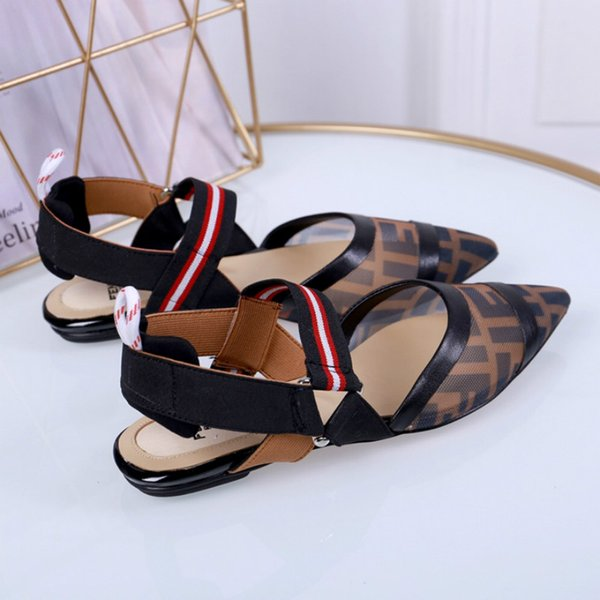 New hot sale women's low-heeled sandals European station high-quality fashion women's shoes patent leather factory outlets free shipping