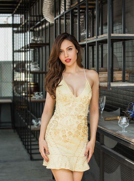 Вечер Женщины партии Sexy кружева с платья блестки платье Глубокий V-образным вырезом Backless Bodycon женщин платья для ночного клуба