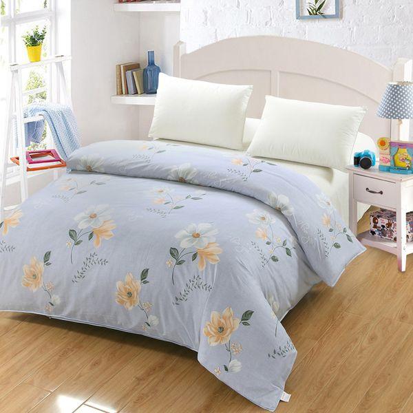 Roupa de cama de moda bonito azul branco Doraemon girafa animal Dos Desenhos Animados Impresso Lençóis Capa de Edredão Crianças Crianças capa de Edredão cama