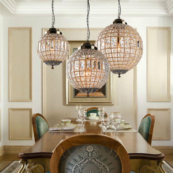 Acheter Rétro Vintage Royal Empire Ball Style Grand Led Cristal Moderne  Lustre Lampe Lustres Lumières E27 Pour Salon Chambre Salle De Bain De  $64.19 ...