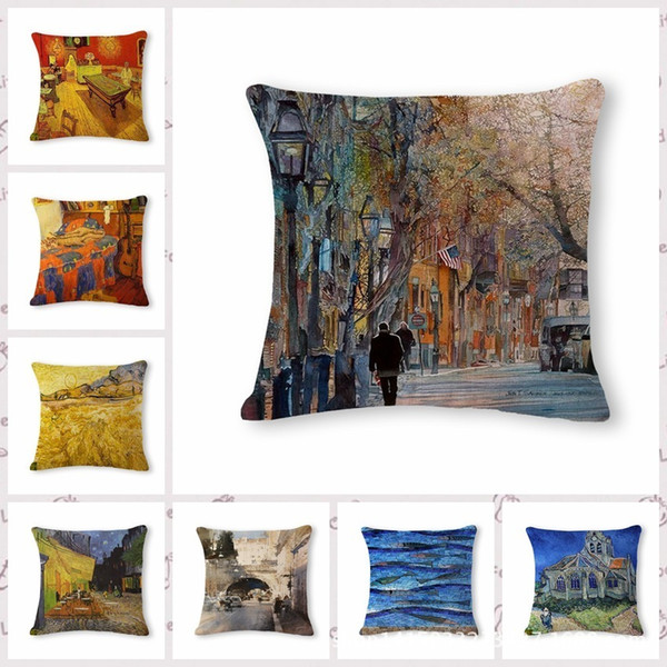 Watercolor Painting Pattern Cotton Flax Pillow Back Cushion Outdoor Patio Replacement Cushions Cushions For Garden Benches From Amerju 7 5