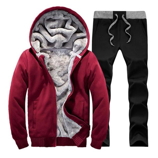 2018 Winter Brand Men Tracksuit Sportwear Sweatshirt Fitness Men's Suit Autumn Tracksuits Set Cheap Hoodies Men Track Suit