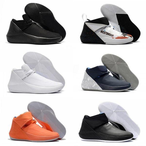 Russell Westbrook Why Not Zer0.1 George Adams Specchio immagine North Carolina Basketball Shoes Zero One Nero Bianco Grigio Tutti stelle Grey Sneakers
