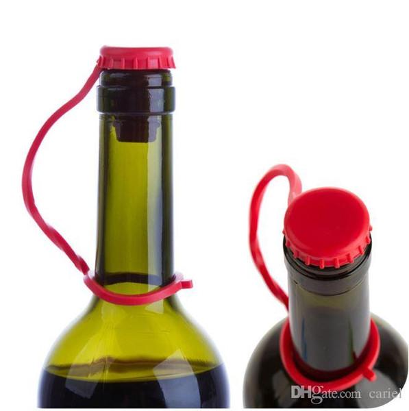 lost-anti cariel silicona tapón del vino de la cerveza Botón Colgando condimento Plug multicolor Botella Tapa cocina perfecta Herramientas WN489B