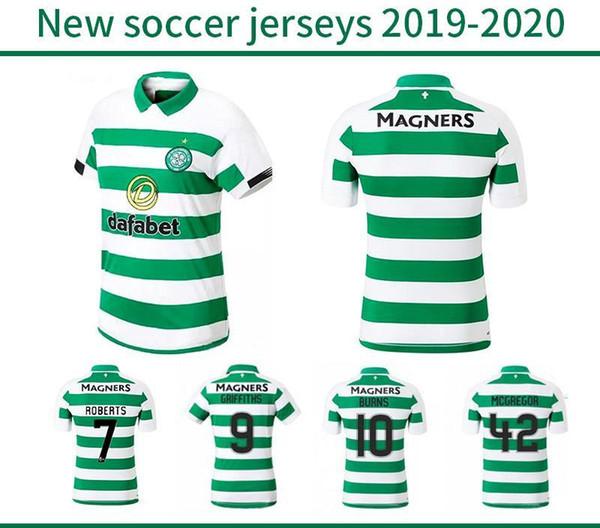 Celtic BITTON BROWN Rogic camisa de futebol 2019 2020 CHRISTIE casa longe Celtic FC 19